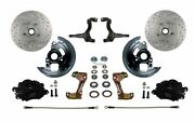 Leed Brakes Bfc1007-fa1x Front Disc Brake Kit W/2 In. Drop Spindles Gm Chevy Ii/