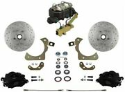 Leed Brakes Fc1010-3a3x Front Disc Brake Kit W/ Factory Spindles Chevy Tri-five