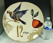 Rare Williams Sonoma 12 Days Of Christmas Platter 13.5 Dove And Pear Nos 2012 Fab