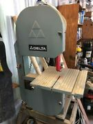 Delta Band Saw Set Up, Extra Blades, Rip Fence, Table Extension,