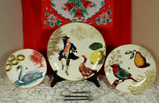 Rare Williams Sonoma 12 Days Of Christmas 3-tier Serving Stand Tidbit 2012 Nwot