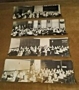 Lot Of Four Photos 1920and039s Schoolroom Randolph County Winchester Indiana In