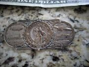 Original 1940 Andlsquos- 1930s Vintage St Christopher Auto Guide Metal Pin Ford Chevy