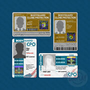 Private Bodyguard Badge | Close Protection Officer | Personal Security Id Badge