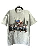Vintage 1999 90s Cows On Parade Chicago Art Sculptures Gray T-shirt Size Large