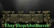 29.2andldquo Rare Old Chinese Bronze Ware Dynasty Palace Dragon Beast Statue Sculpture