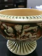 """Roseville Donatello Compote Vintage Footed Bowl 5""""tall 6"""" Diameter Nice Condtion"""