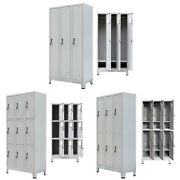 Locker Filing Cabinets With 3/6/9 Compartments Steel Storage Cupboard Stand Unit