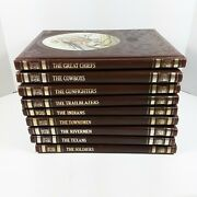 Time Life Old West Lot Of 9 Leatherette Books Chiefs Cowboys Texans Soldiers