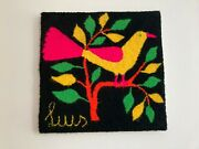 Vintage Hand Made Wool Swedish Textile Art Wall Hanging/tree Of Life/textile Art