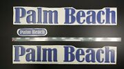 Palm Beach Boat Emblems 22 Blue + Free Fast Delivery Dhl Express