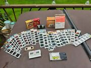 Nos New Gaf Pana Vue Slides 36 Sheets 180 Total Tru-vue In Box And Hanimex Viewer