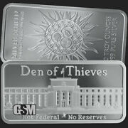 10oz Silver Shield Den Of Thieves Silver Bar Not Federal No Reserves In Case