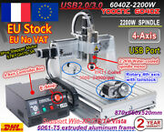 2200w Usb 4 Axis 6040 Cnc Router Cutter Engraving Milling Machine 2.2kw 220v「fr」