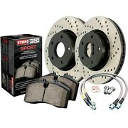 Stoptech 979-33016f Sport Brake Kit Drilled Front Incl. Rotors Pads And Stainles
