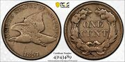 1857 Flying Eagle Cent Snow 7 20 Double Liberty Clash Pcgs Vf Details Rarity
