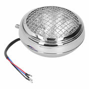 Round Motorcycle Headlight Retro Style Headlamp W/grill Guard Clear Lens 12v 6in