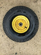 John Deere 180 Lawn Tractor Front Rim Wheel And Tire W/ Tube 15x6.00-6 Am127303
