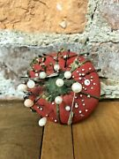 Vintage Strawberry Or Tomato Pin Cushion As Found With Original Pins Old Japan
