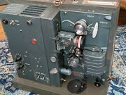 Vintage Rca Model 400 16mm Film Projector And Speaker Ww2 Era - Sold As Is