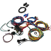 21 Circuits Wiring Harness 17 Fuses Plug Connector For Radio Fan Horn Ac