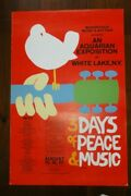Original 1969 Woodstock Concert Poster 24 By 36 In Size.