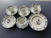 Georgetown Collection By Wedgewood Volendam 4 Cups And Saucers Plates