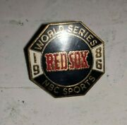 1986 Boston Red Sox World Series Press Pin For Nbc Sports By Balfour Vintage