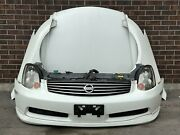 Jdm Infiniti G35 Coupe Bumper Headlights Fender Hood Grille 2003-2004 Coupe 2-dr