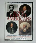 Four Great Americans Computer Cd/mp3 James Baldwin Webster/franklin/lincoln Bios