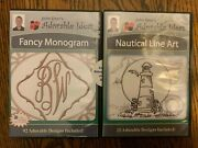 John Deer's Embroidery Designs Adorable Ideas Lot Of 2 Cds Nautical And Monogram