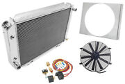 Champion Cooling Systems Ae138k Radiator With Shroud And Fan Control Kit 1973-19