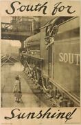 1934hoarding Poster South For Sunshinesouthern Railway Gb Size 3x2 Metres