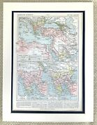 1895 Antique Map Of The Middle East Egypt Cairo Ottoman Empire Turkey French Old