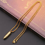 Solid Gold Pendant Bullet Charm Design With High Polished Finished Sp42