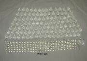 Vintage Crystal Clear Glass Pendeloque Prisms Almond And Octagonal Lot 381