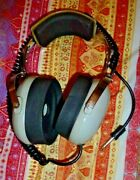 Vintage David Clark Model 100a Listen-only Audio Headphones Made In Usa