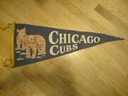 Vintage Chicago Cubs 29 Felt Pennant No Holes Extremely Rare