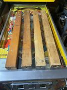 4-1950and039s Wooden Pinball Legs Used 3-30 And 1-28 With 4 T Nuts