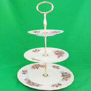 Paragon Mayflower 3 Tier Cake Stand Bone China Made England New Never Used
