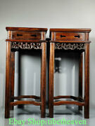 21.2 Rare Old Chinese Huanghuali Wood Hand Carving Palace Flower Fancy Shelf