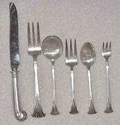 Vintage Tuttle Onslow Sterling Silver 6 Dinner Size Settings - 7 Pieces Per Set
