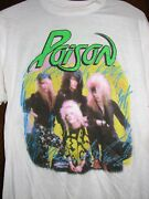 Poison 1986 Look What The Cat Dragged In Vintage Licensed Concert Tour Shirt Xxl