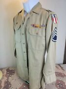 Wwii Us Army Air Corps Cbi Shirt With Theater Made Patches