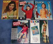 Click Magazine Lot 5cheesecake Pin Up Girls1940s Hollywood Memorabiliawwii