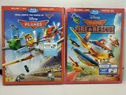 Planes + Planes Fire And Rescue Blu-ray+dvd+rare Embossed Slip Covers Disney