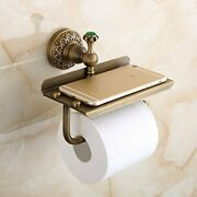 Beelee Bathroom Tissue Holder/toilet Paper Holder Solid Brass Wall-mounted To...