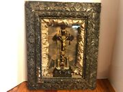 Rare 1877 Catholic Religious Crucifix And039tools Of The Passionand039 Shadow Box Wall Art