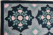 Vintage 5 X 7 Hand Hooked Claire Murray Rug Rose Sharon Country Wool Primitive