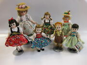 7 Vintage Madame Alexander Sound Of Music Dolls 1970s With Stands